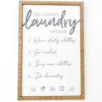 Self Service Laundry Plaque